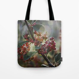 Soft Light on Winterberry Shrub Tote Bag