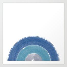 Minimalist Brush Stroke Half Circle Art Print
