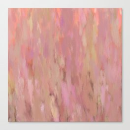 Pink Abstract Impressionism Canvas Print