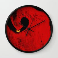 violin Wall Clocks featuring violin by laika in cosmos