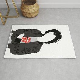 Mic Jagger - Minimal Music Art Illustration Rug
