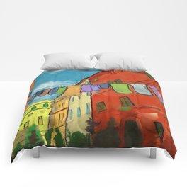 Laundry in Trastevere Comforters