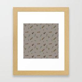 Smoky cigar pattern Framed Art Print