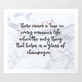 Champagne love Art Print