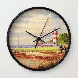 Harbor Town Golf Course 18th Hole South Carolina Wall Clock