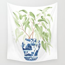 Ginger Jar + Eucalyptus Wall Tapestry