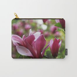Blush pink magnolia flowers Carry-All Pouch