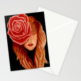 Serenity woman and nature Stationery Cards