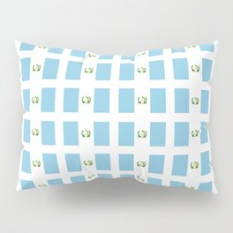 Flag of Guatemala 3-Guatemalan,Mixco,Villa Nueva,Petapa,tropical,central america,spanish,latine Pillow Sham