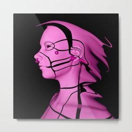 Pink Cyborg Metal Print