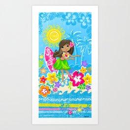 Hala beach Art Print