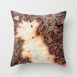 Cool brown rusty metal texture Throw Pillow