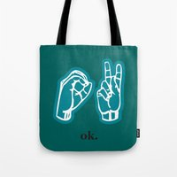 kim sy ok Tote Bags featuring ok by Chloe PurR