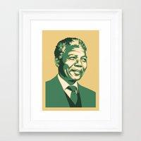 mandela Framed Art Prints featuring MANDELA by UCArts