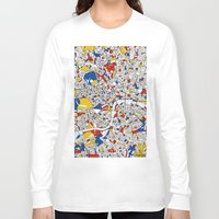 london Long Sleeve T-shirts featuring London by Mondrian Maps