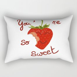 Sweet to eat / à croquer Rectangular Pillow