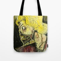 zombies Tote Bags featuring zombies by Marcelo O. Maffei