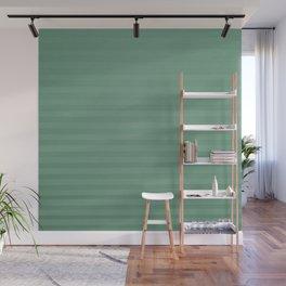 Vintage chic green geometrical stripes pattern Wall Mural