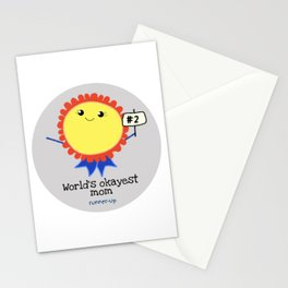 World's Okayest Mom Runner-Up Stationery Cards
