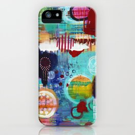 The Battle of Sun and Rain iPhone Case