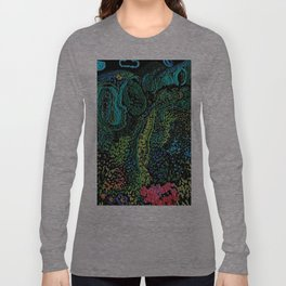 cheerful handmade embroidery in the digital world Long Sleeve T-shirt