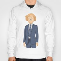 poodle Hoodies featuring Posing Poodle by drawgood