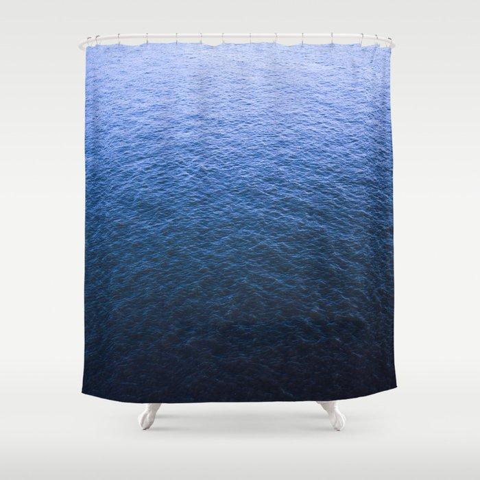 Blue Elbe Shower Curtain