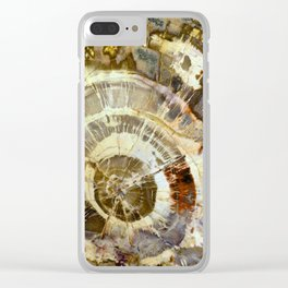 Abstract mineral texture Clear iPhone Case