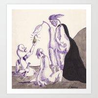 hamlet Art Prints featuring Hamlet by MaximusMax76