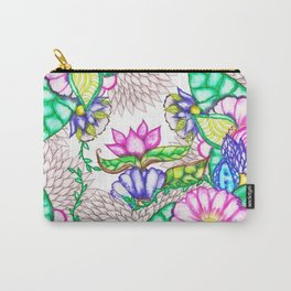 Bright modern botanical preppy floral watercolor Carry-All Pouch