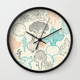 I love vegetables! Wall Clock