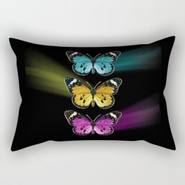 3 colorful butterflies Rectangular Pillow