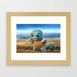 Realistic Squirtle Framed Art Print