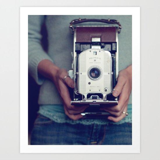 her camera Art Print