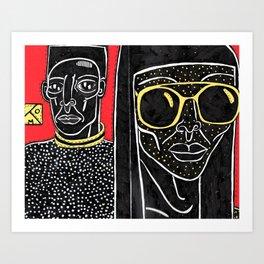 Black Red Yellow Art Print