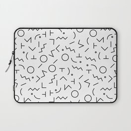 MEMPHIS II ((black on white)) Laptop Sleeve