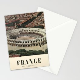 Plakat france nimes les arenes romaines Stationery Cards