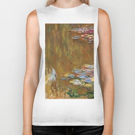 1917-Claude Monet-The Water Lily Pond Biker Tank