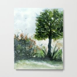 A Lovely Day, Abstract Landscape Art Metal Print