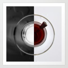 A cup of tea Art Print