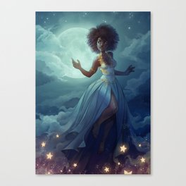 Lady of the sky Canvas Print