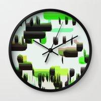 super mario Wall Clocks featuring Super Mario  by Cristina Lobo