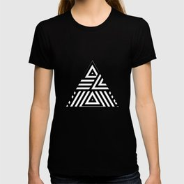 Triangle Pattern Black And White T-shirt
