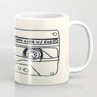 cassette Mugs featuring cassette schmassette by sharon