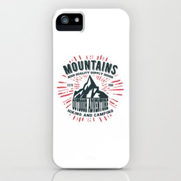 Mountains stamp print design iPhone Case
