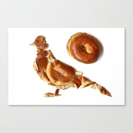 Pigeon Bagel Canvas Print