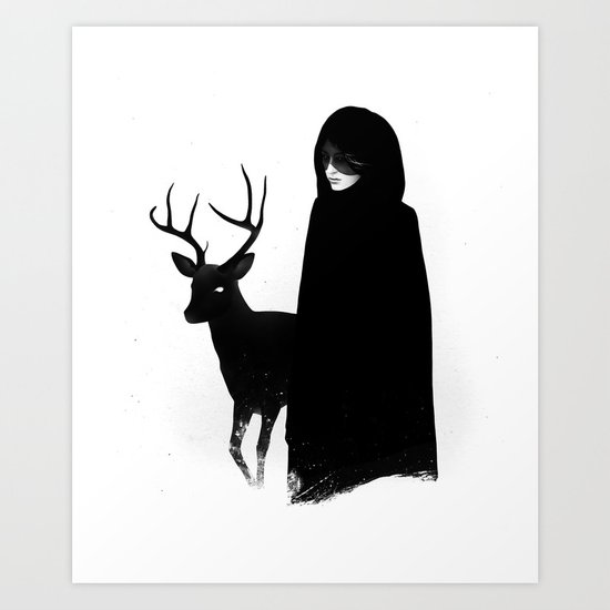 Absentia in white Art Print