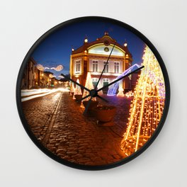 Christmas in Ribeira Grande Wall Clock