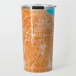 Bari, Italy, Gold, Blue, City, Map Travel Mug