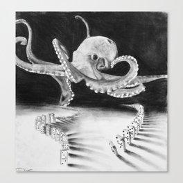 playful octopus  Canvas Print